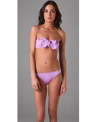 Zimmermann | Purple Poppy Frill Bandeau Bikini | Lyst