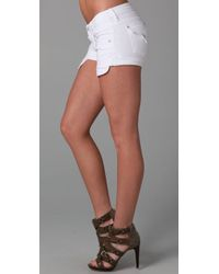 Hudson Jeans | White Cuffed Denim Shorts | Lyst