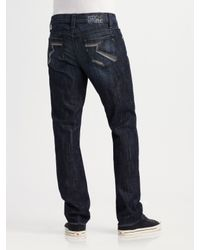 Rock & Republic | Black Fearless Straight-leg Jeans for Men | Lyst