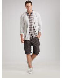 Richard Chai | Gray Drawstring Shorts for Men | Lyst