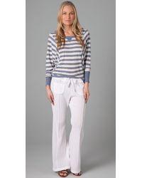 C&C California - White Beach Gauze Easy Pants - Lyst