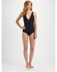 Chloé - Black Deep-v One-piece Swimsuit - Lyst