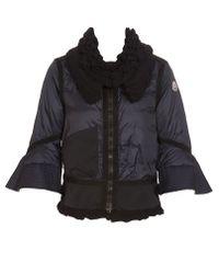 Moncler Black Shizu Knit Collar Jacket