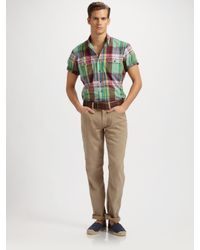 Polo Ralph Lauren | Green Five-pocket Linen/cotton Pants for Men | Lyst