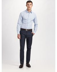 Theory | Blue Sylvain Water Mill Sportshirt for Men | Lyst