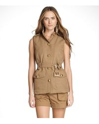 Tory Burch | Brown Lana Vest | Lyst