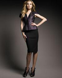 Alexander McQueen | Black Crepe Pencil Skirt | Lyst