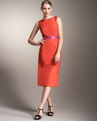 Carolina Herrera - Orange Origami-back Dress - Lyst