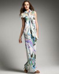 Emilio Pucci | Black Patterned Dress | Lyst