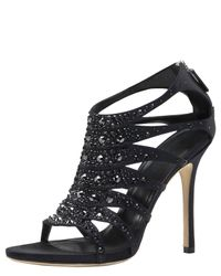 Gucci | Black Soraya Jeweled Sandal | Lyst