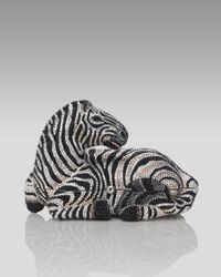 Judith Leiber | Multicolor Botswana Zebra Minaudiere | Lyst