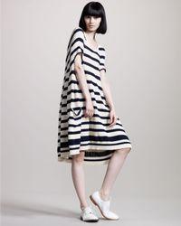 Junya Watanabe   Blue Striped Swing Dress   Lyst