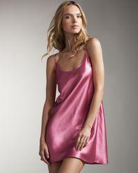 La Perla | Pink Silk Chemise, Fuschia | Lyst