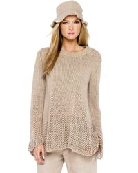 Michael Kors | Natural Chunky Hand Knit Sweater | Lyst