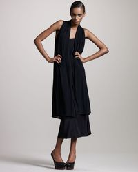 The Row - Black Long Sheer-panel Vest - Lyst