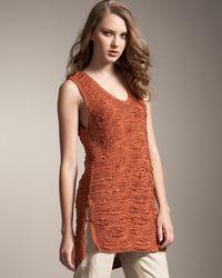 TSE | Orange Drop-stitch Tunic | Lyst