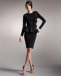 Valentino | Black Knit Godet-back Pencil Skirt | Lyst