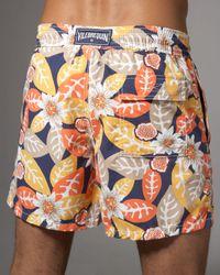 Vilebrequin - Multicolor Fig & Leaf-print Moorea Swim Trunks for Men - Lyst