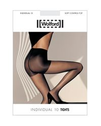 Wolford   Black Individual 10 Soft Control Top Tights   Lyst
