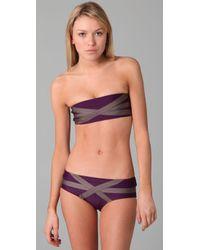 VPL - Purple Bandage Bikini Top - Lyst