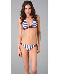OndadeMar - Blue Tigris Delta Bikini Top - Lyst