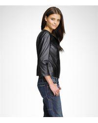 Tory Burch Black Brett Asymmetric Leather Jacket