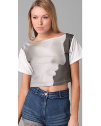 Opening Ceremony - Gray Ermes Cropped Tee - Lyst