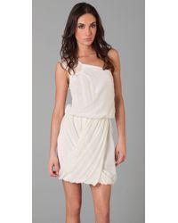 Tibi | White Farrah One Shoulder Dress | Lyst