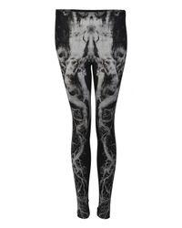 Alexander McQueen | Black Tree Print Leggings | Lyst