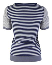 Sonia by Sonia Rykiel | Blue and White Stripe Anchor Top | Lyst