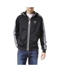 Adidas Black Ot–tech Hooded Flock Jacket for men