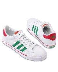 Adidas White Classic Vulc Skater Shoes for men