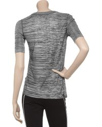 Alexander Wang | Gray Knitted Marl T-shirt | Lyst