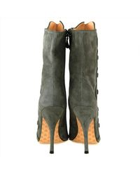 Betsey Johnson | Gray Wing It Boots | Lyst