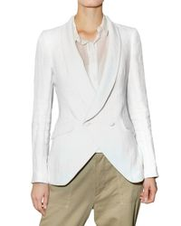 Boy by Band of Outsiders | White Double Breasted Linen Jacket | Lyst