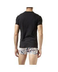 Calvin Klein | Black 365 Crew Neck Two Pack T–shirt for Men | Lyst