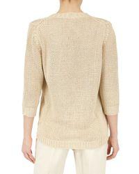 Calvin Klein - Natural Silk Knit Sweater - Lyst
