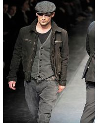Dolce & Gabbana - Brown Steamed Suede Jacket for Men - Lyst