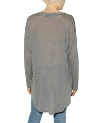 Enza Costa - Gray Thin Jersey Top - Lyst