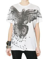 Givenchy | White Dove Print Oversize Jersey T-shirt | Lyst