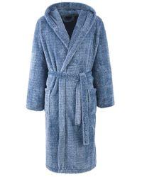 John Lewis | Blue Fleece Robe Denim for Men | Lyst