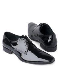 KG by Kurt Geiger Black Anton Lace–up Derby Shoes for men