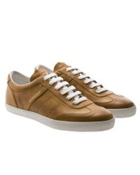 Moncler Brown Biarritz Leather Trainers for men