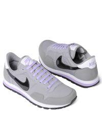 Nike Gray Metro Plus Retro Running Shoes for men