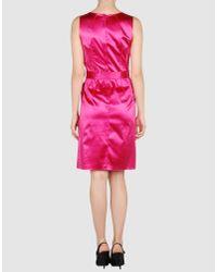 Dolce & Gabbana | Pink Satin Sheath Dress | Lyst