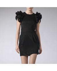 French Connection Black Wendy Ruffle Dress
