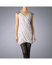 French Connection Gray Graingers Glitter Dress