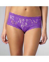 Hanky Panky Purple Signature Lace Boy Shorts Lavender