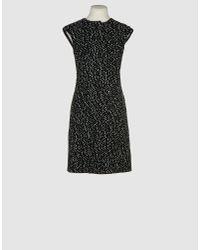 Michael Kors | Black Pearl-embellished Short-sleeve Sheath Dress | Lyst