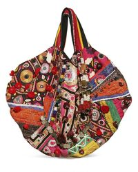 Simone Camille | Multicolor Carry All Vintage Fabric Beaded Tote | Lyst